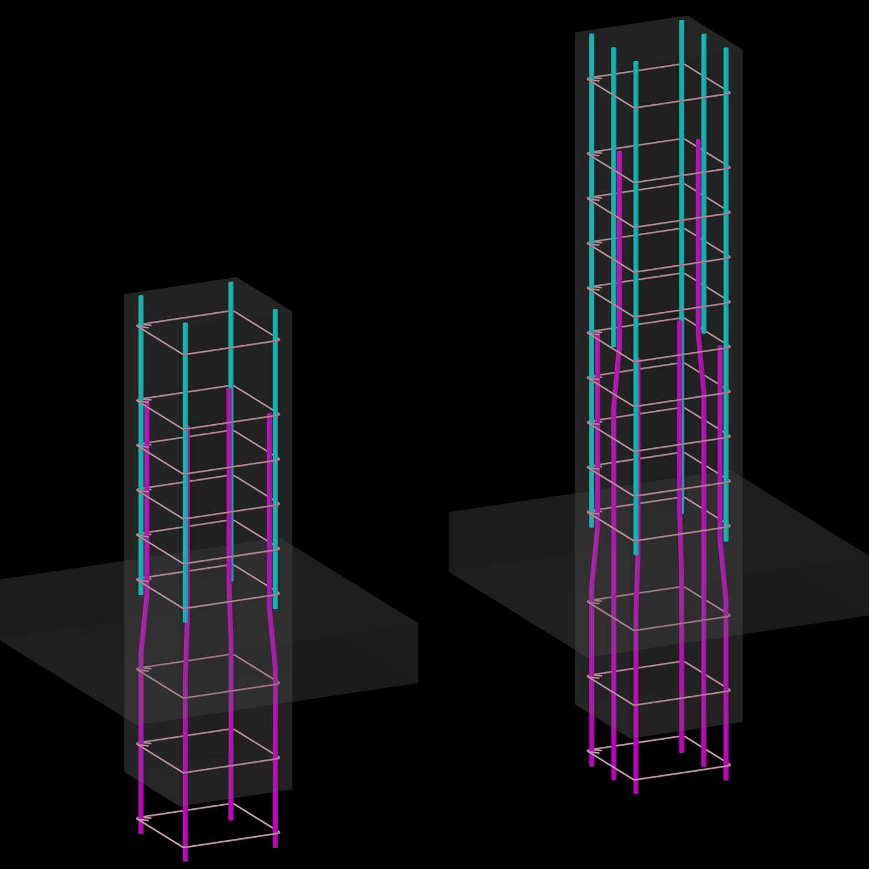 Армирование колонны