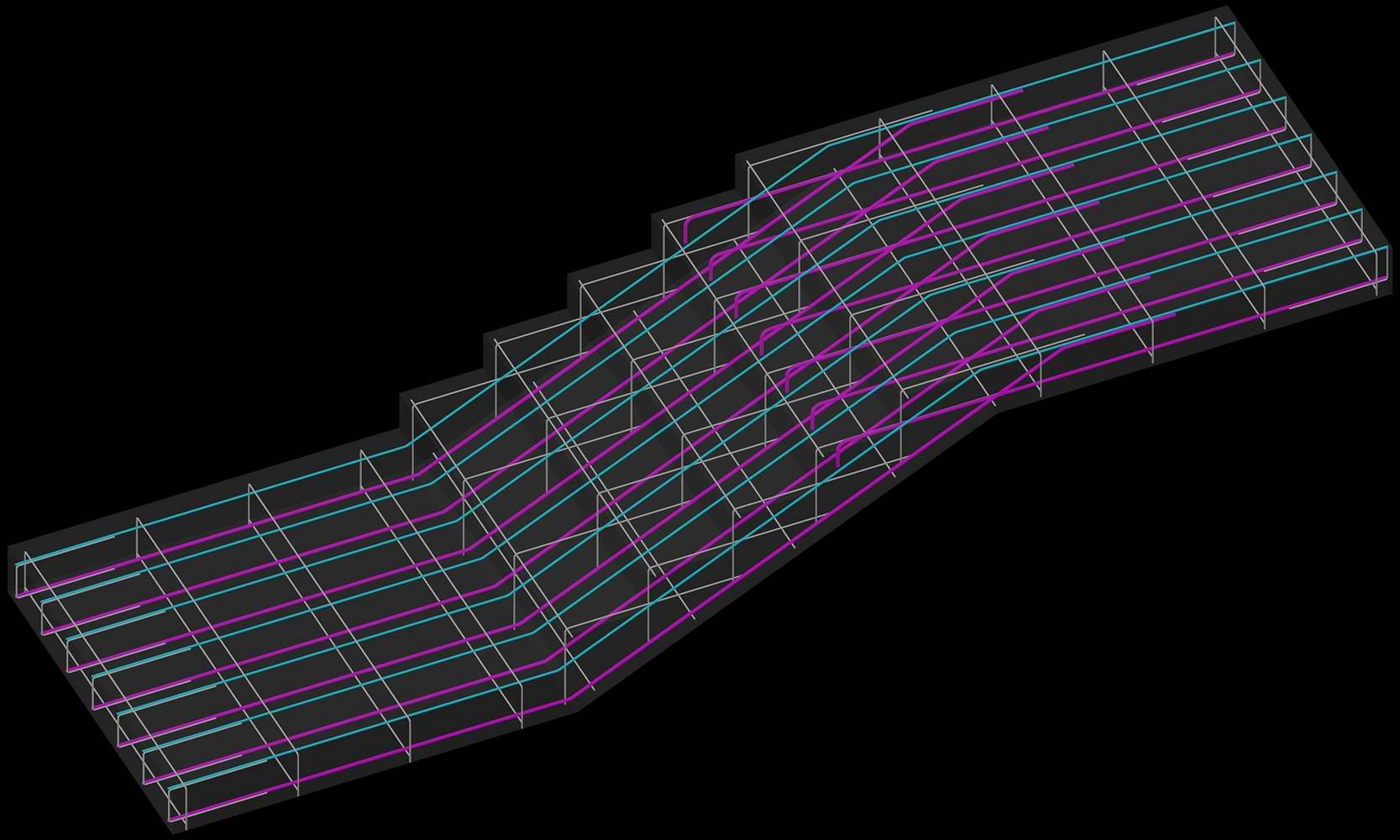 Армирование лестницы
