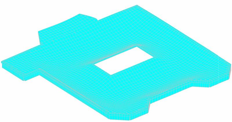 Монолитная плита покрытия